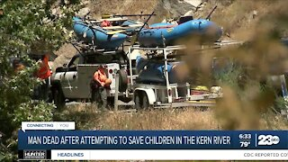 Man dead after attempting to save children in Kern River