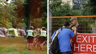 Toronto Is Clearing Out Another Park Encampment Today & TPS Have Already Arrested 9 People