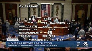 House passes bill to avoid government shutdown, suspend debt limit