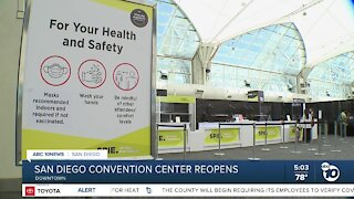 San Diego Convention Center reopens for events