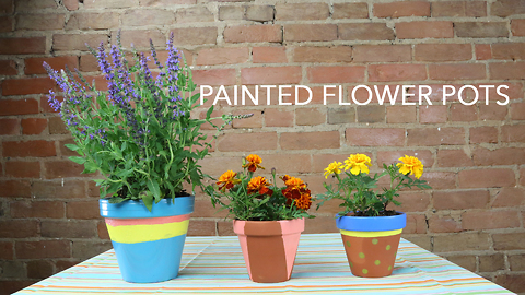 How to make your own DIY painted flower pots