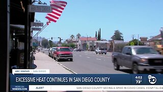 High temperatures continue in San Diego County