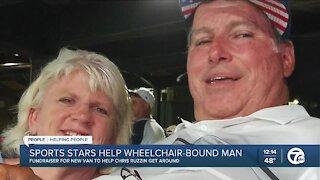 Sports stars helping Chris Ruzzin, who is wheelchair bound, get new van
