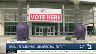 Recall election ballots being mailed out