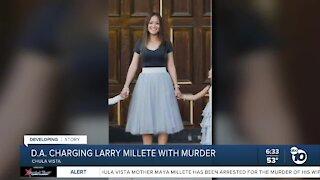 DA charging Larry Millete with murder of wife Maya
