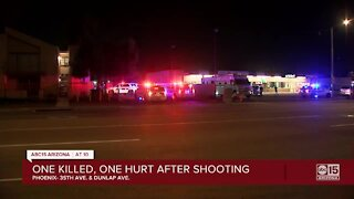 One dead, one hurt after shooting in Phoenix