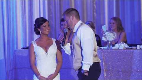 Bride Gets A Special Surprise From Her Groom On Their Wedding