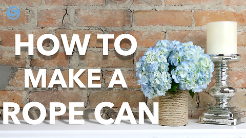 Easy & useful DIY craft: How to make a rope can