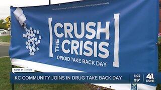 Hundreds of pounds of prescription drugs dumped Saturday on National Drug Takeback Day