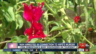 Man arrested for wife's murder in Oildale