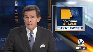 Student arrested after threat