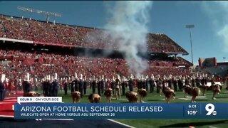 Arizona Football's schedule is released