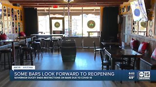 Some bars look forward to reopening in Arizona