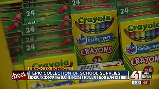 EPIC Church collects, donates school supplies to students