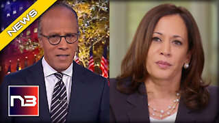 Kamala Cackles When CONFRONTED On Live TV About Visiting The Border