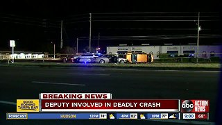 Woman dies after driving wrong way in Pinellas County, off-duty deputy involved in crash