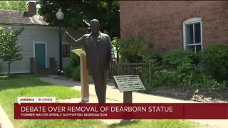 New push to remove statue of segregationist former Dearborn mayor
