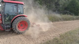 Drone shots of Tractor action on our farm