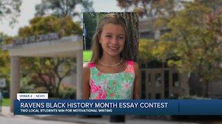 Ravens Black History Month Essay Contest