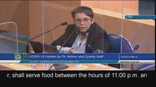 Alina Alonso talks about reopening schools