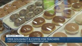 Krispy Kreme offering free doughnut, coffee for teachers