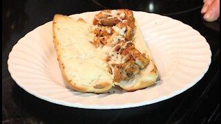 Pulled BBQ Chicken & Cheese Sandwich