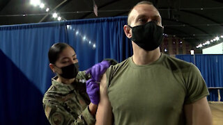 D.C. National Guard receive second dose of COVID-19 vaccine