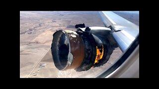 Plane Engine Explodes Mid-Flight