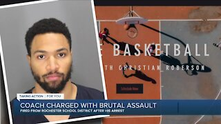 Coach charge with brutal assault