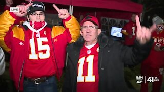 Chiefs fans tailgating