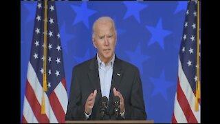 Joe Biden delivers remarks in Wilmington