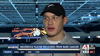 Mavericks player Justin Woods remains strong after battle with Ewing's Sarcoma
