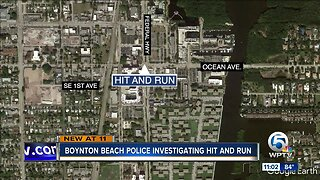 Police investigate hit and run in Boynton Beach