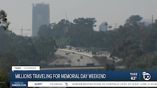 Millions traveling for Memorial Day weekend