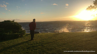 Beautiful Waterfront Sunset on Bay of Quinte Lake Ontario