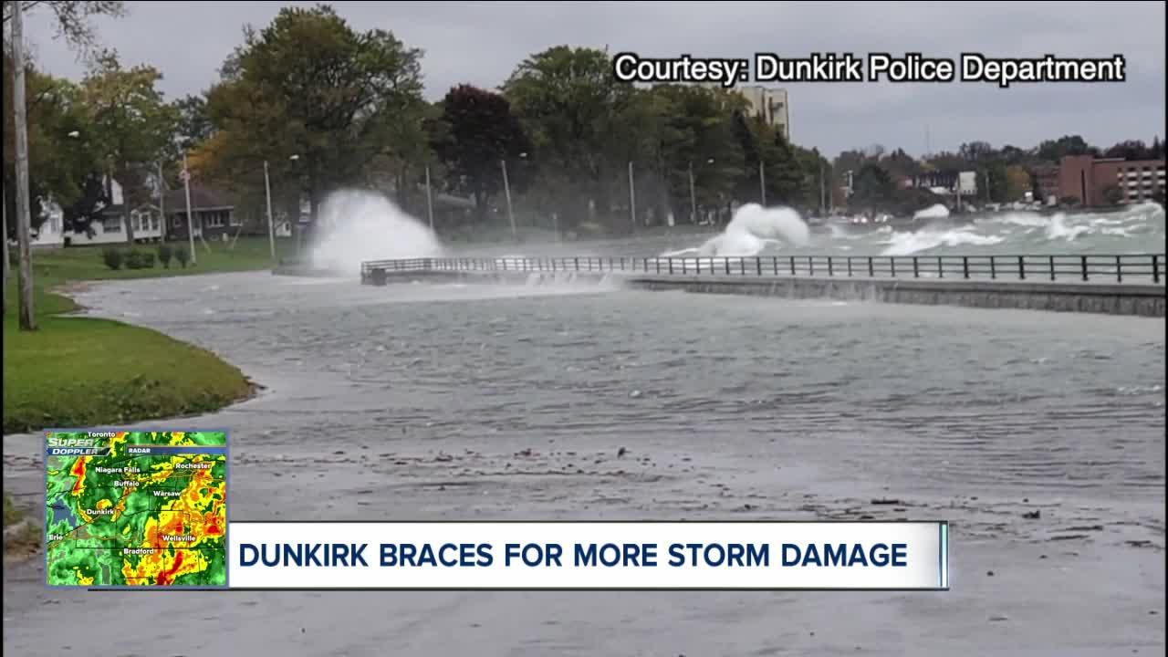 Dunkirk braces for more storm damage