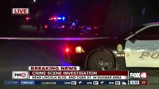 Large crime scene investigation in Dunbar community