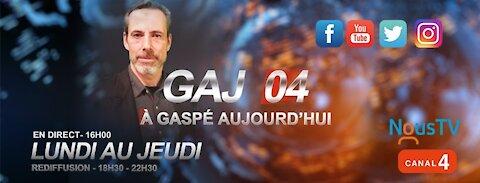 À Gaspé aujourd'hui : jeudi 14 octobre 2021