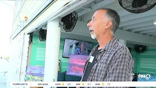 Local art partnership with Shucker's in Fort Myers Beach