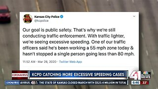 Kansas City police report increase in speeding during stay-at-home order