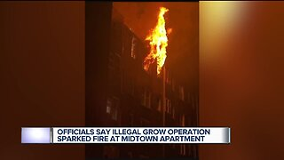 Officials: Illegal grow operation caused fire in Midtown Detroit apartment complex