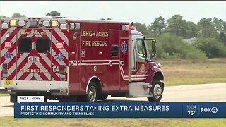 First responders take precautions amid coronavirus concerns