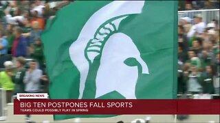 Big Ten postpones 2020 fall sports, hopes to play in spring