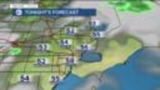 Drier air moves in