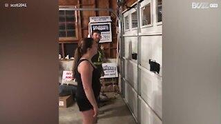 Could you do this 'garage door challenge'?