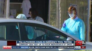 FDA authorizes COVID-19 emergency pool testing