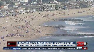 Gov. Gavin Newsom reopens more beaches in Orange County