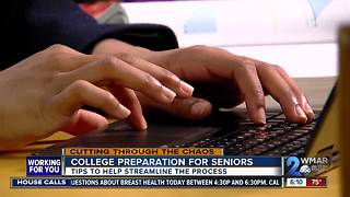 Helping high school seniors through college preparation process