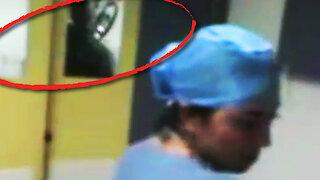 Nurse Films Ghostly Figure In Hospital