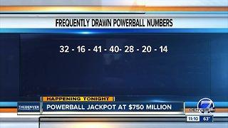 Powerball jackpot up to $750 Million